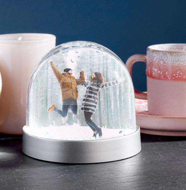Full Photo Upload Couple Snow Globe