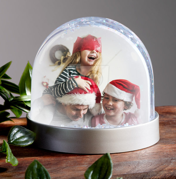 Full Photo Upload Family Snow Globe