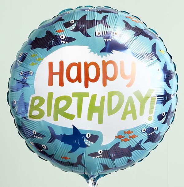 Happy Birthday Shark Balloon