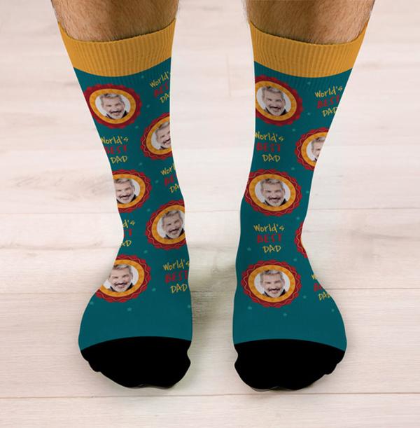 World's Best Dad Personalised Socks
