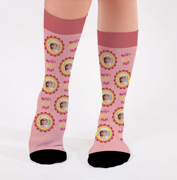 Mom Socks Gift Socks  ** NOT VINYL ** Lucky Socks Mother/'s Day Socks Custom Socks World/'s Best Mom