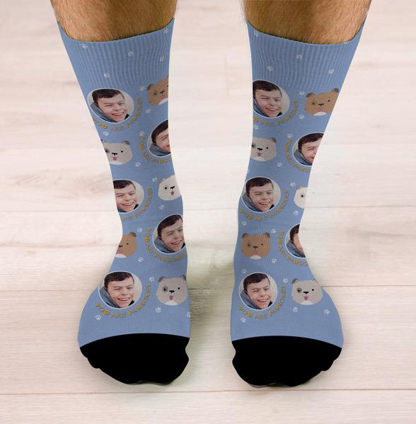 Personalised You Are Pawsome Dog Photo Socks