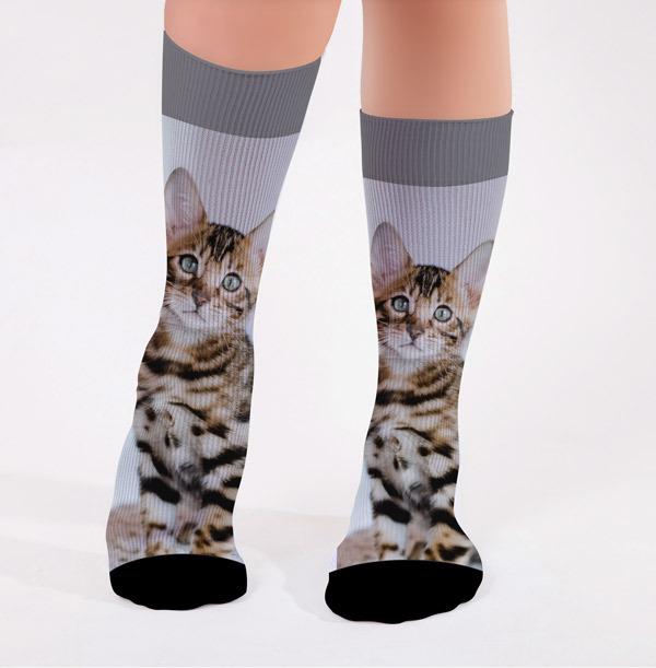 Full Photo Upload Cat Socks