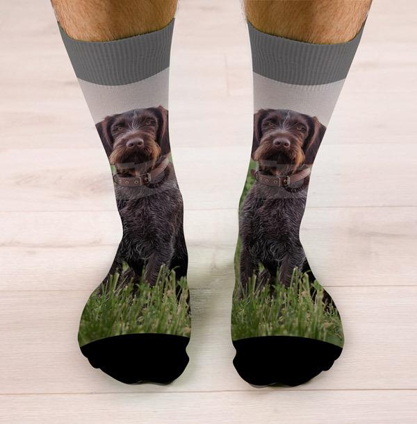 Full Photo Upload Dog Socks