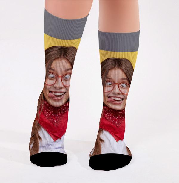 Photo Upload Fun Face Socks