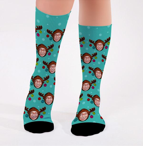 Personalised Reindeer Christmas Socks