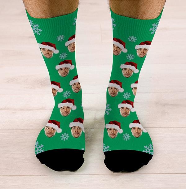 Personalised Santa Hat Christmas Socks