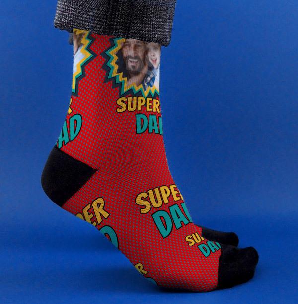 Superdad Photo Socks