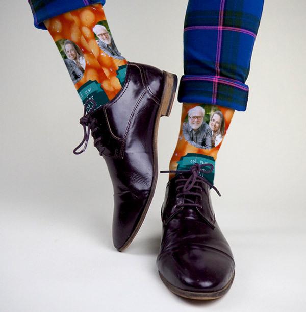 Best Farter Ever Personalised Photo Socks