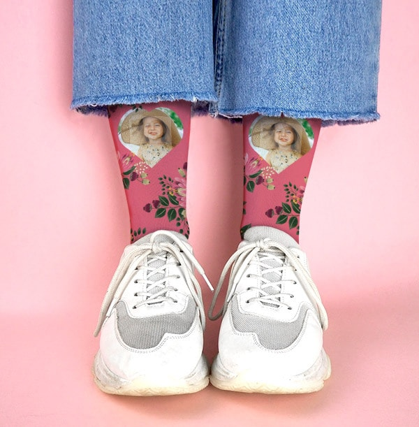 Young Hearts Mothers Day Photo Socks