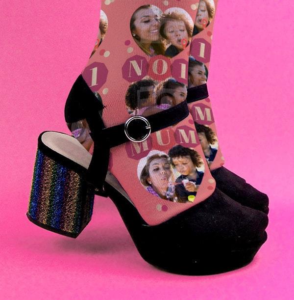 No 1 Mum Photo Socks