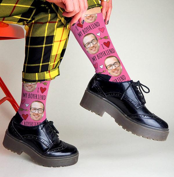 Personalised Boyfriend Photo Socks