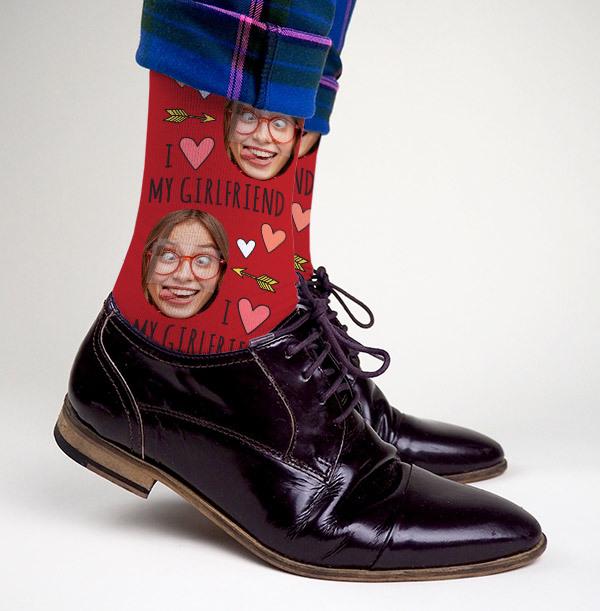Personalised Girlfriend Photo Socks