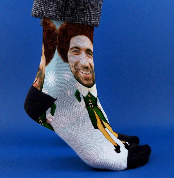 Male Elf Photo Socks
