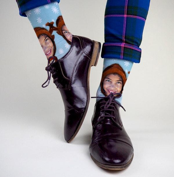 Reindeer Photo Socks