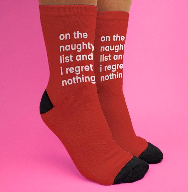 On the Naughty List Personalised Socks
