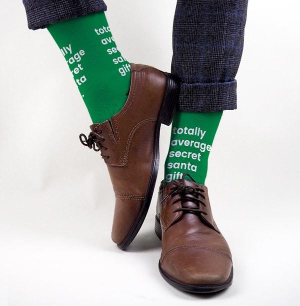 Totally Average Secret Santa Personalised Socks