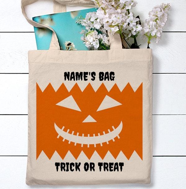 Halloween Carved Pumpkin Tote Bag