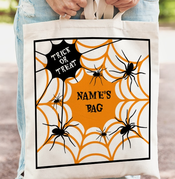 Halloween Spider's Web Tote Bag