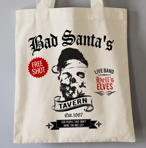 Bad Santa Skull Personalised Tote Bag