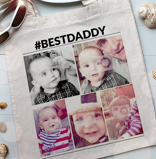 Best Daddy Photo Personalised Tote Bag