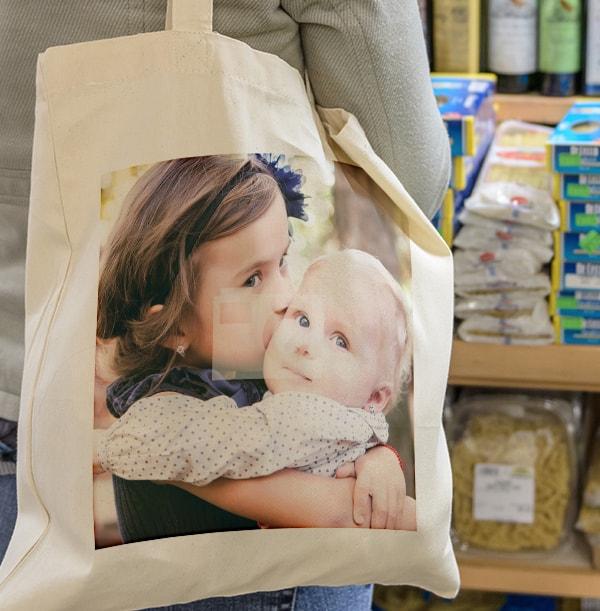Full Photo Upload Tote Bag