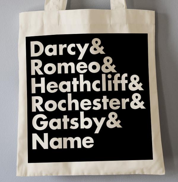 Romantic Heroes Personalised Tote Bag