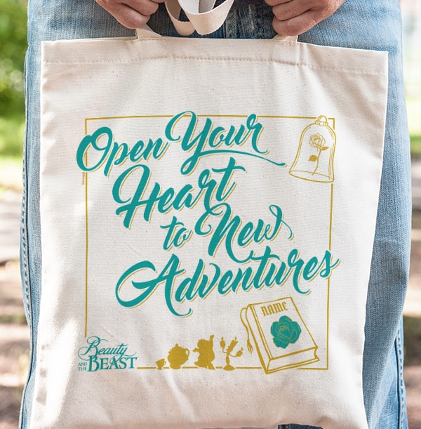 Beauty & the Beast Personalised Tote Bag - New Adventures