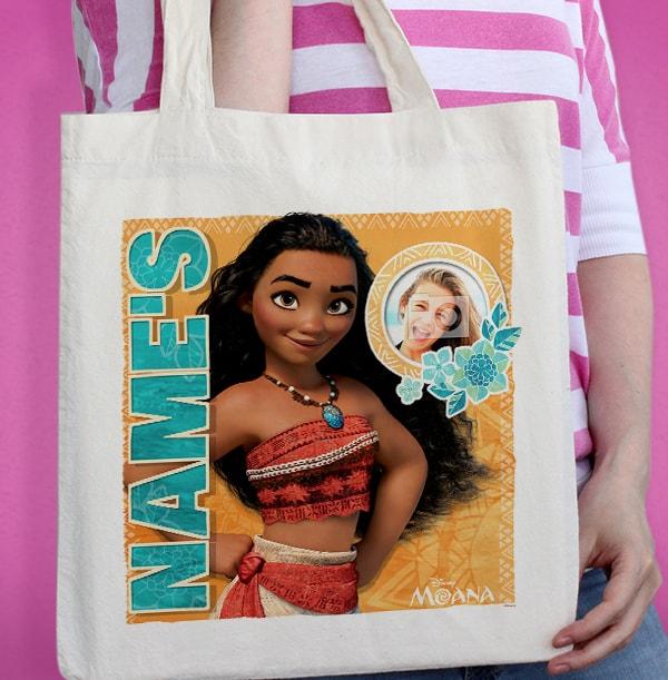 Moana Personalised Photo Tote Bag