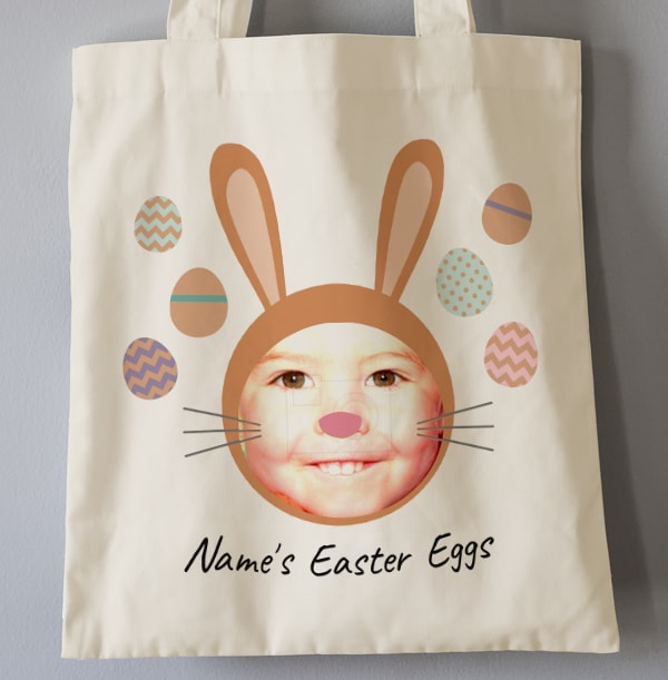 Funny Rabbit Photo Easter Tote Bag