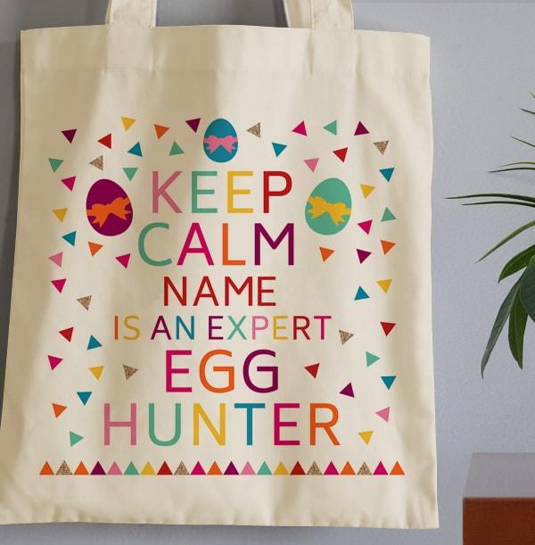 Keep Calm Easter Egg Hunter Tote Bag