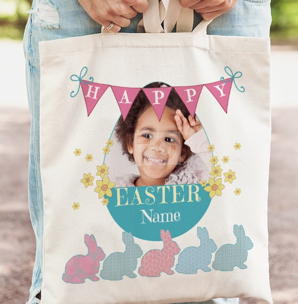 Happy Easter Photo Tote Bag