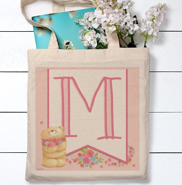Forever Friends Initial Personalised Tote Bag