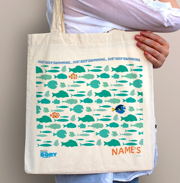 Finding Dory Personalised Shoal of Fish Tote Bag