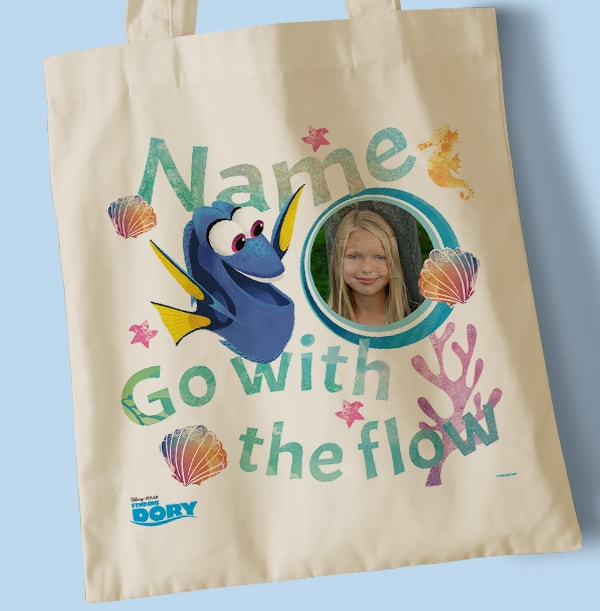 Finding Dory Personalised Go with the Flow Tote Bag