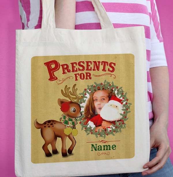 Rudolph Personalised Tote Bag