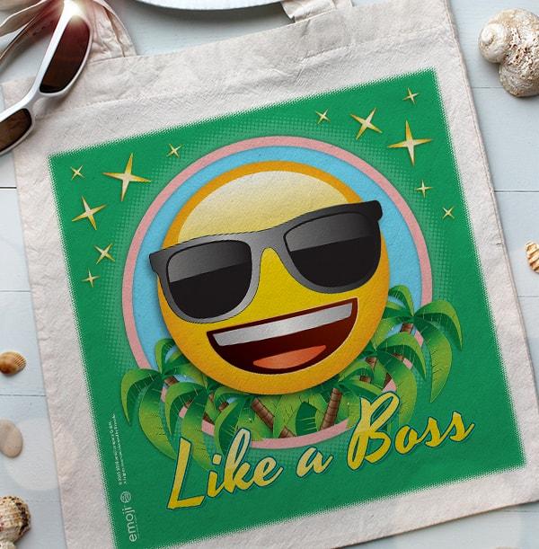 Like A Boss Personalised Emoji Tote Bag
