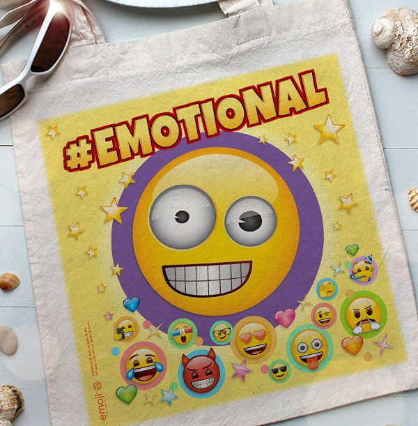 Emotional Emoji Personalised Tote Bag