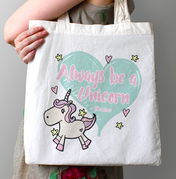 Always be a Unicorn Personalised Tote Bag