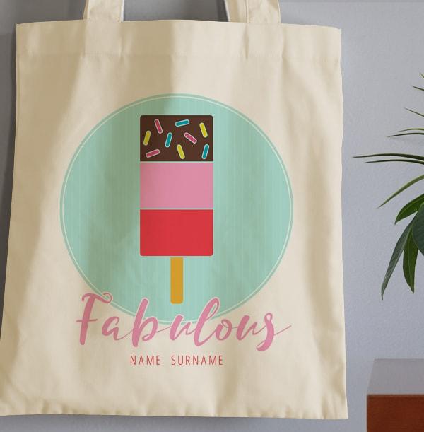 Summer Vibes Personalised Tote Bag
