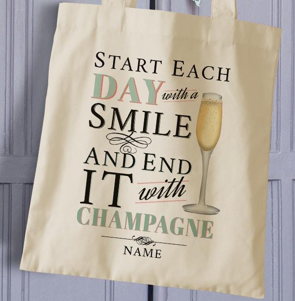 Rhythm & Booze Personalised Champagne Tote Bag