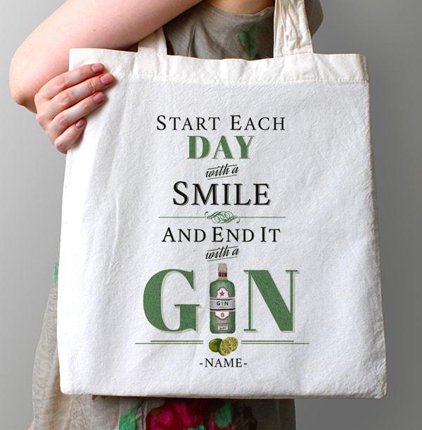 Rhythm & Booze Personalised Gin Tote Bag