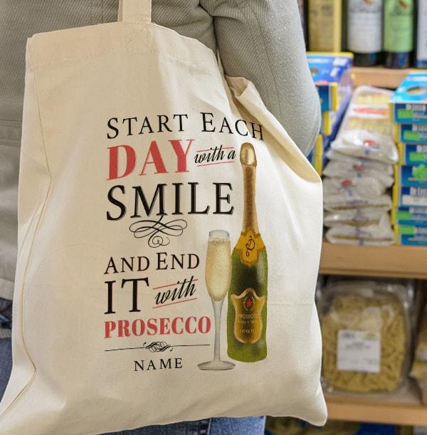 Rhythm & Booze Personalised Prosecco Tote Bag