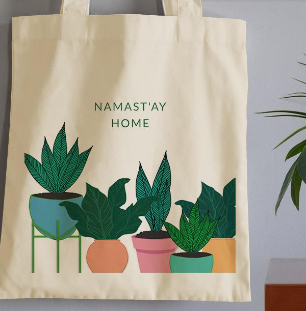 Namast'ay Home Personalised Tote Bag