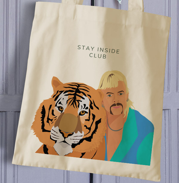 Stay Inside Club Personalised Tote Bag