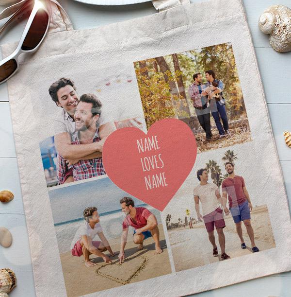 Couple's Multi Photo Tote Bag