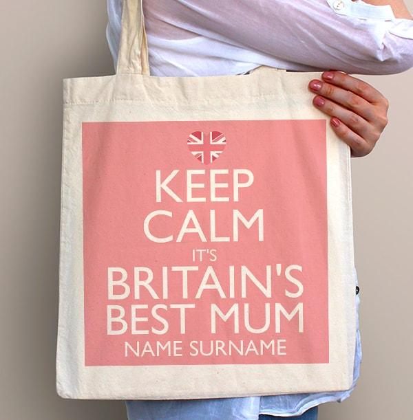 Keep Calm Best Mum Tote Bag