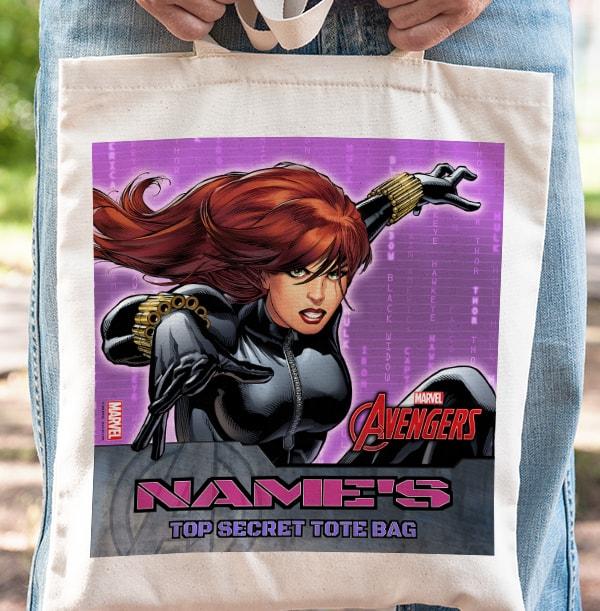 Black Widow Marvel Avengers Tote Bag