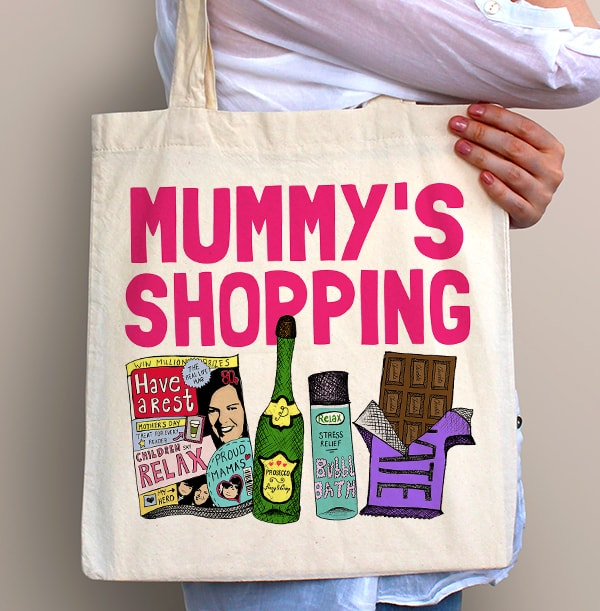 Mummy's Shopping Personalised Tote Bag