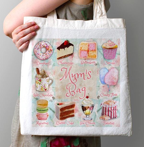 Cake Treats Personalised Tote Bag